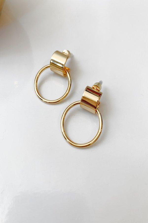 Jenny Bird Faye Knockers earrings - 14kt gold dipped