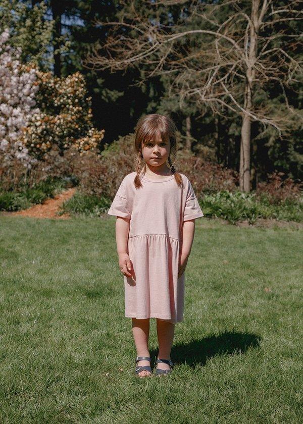 Kids Petits Vilains Martine T-Shirt Dress - Dusty Pink
