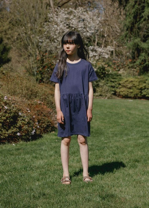 Kids Petits Vilains Martine T-Shirt Dress - Marine