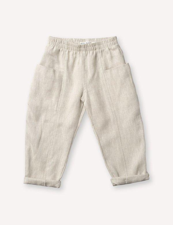 Kids Petits Vilains Maxence Pocket Pant - Oatmeal