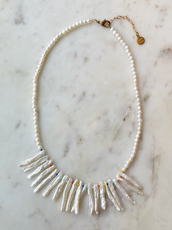 Sandy Hyun Keshi Pearl Cluster Necklace