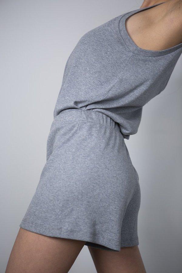 Lois Hazel Rib Shorts - Coast