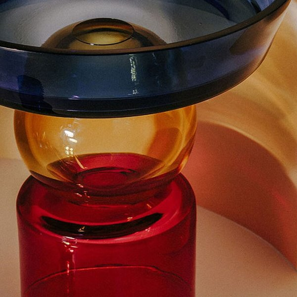 Natalia Criado Col Fruit Vase - blue/red/amber