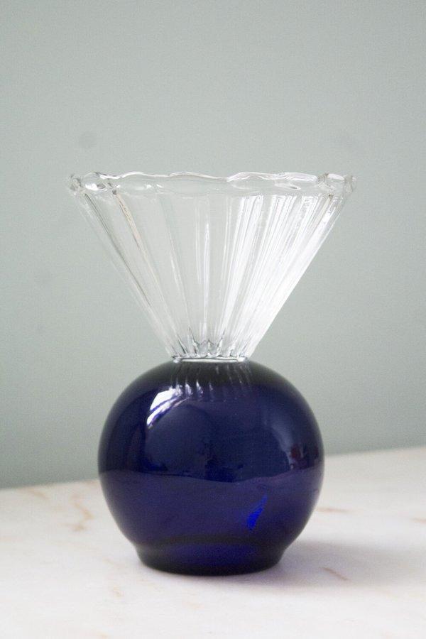 Natalia Criado Decoration Crystal Cup vase - Blue