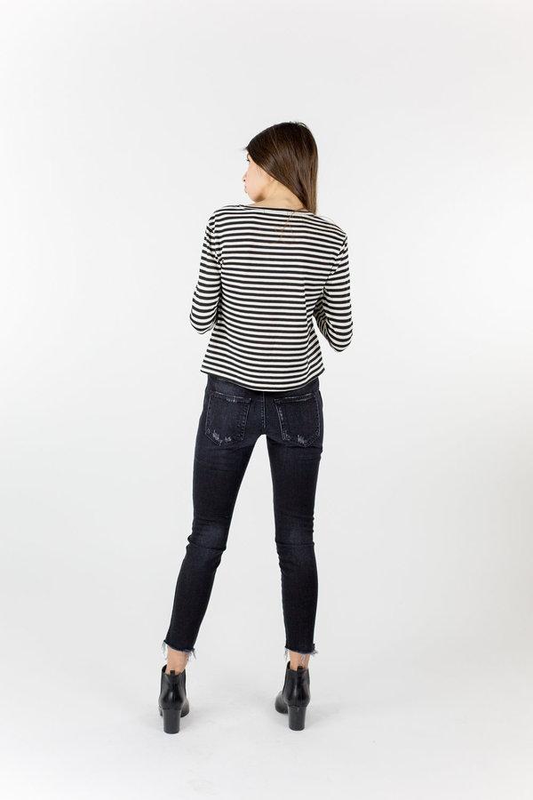 AMO Twist L/S Tee - Seaton Stripe