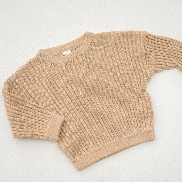 kids unisex Illoura the Label ESSENTIAL RIB KNIT PULLOVER sweater -
