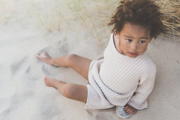 Kids Illoura the Label Essential Rib Knit Shorts - Biscuit