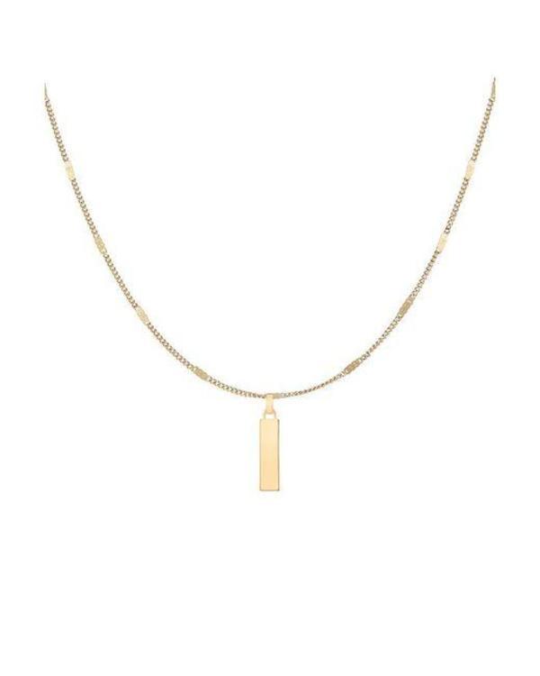 Jenny Bird Modernist Monogram Necklace - 14K gold-dipped brass