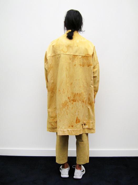 Unisex Eckhaus Latta Big Jean Jacket, Rust