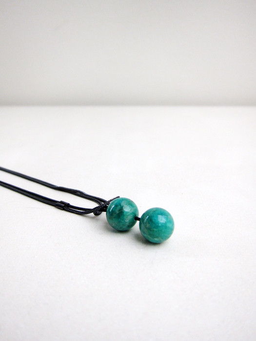 Saskia Diez Boule Necklace, Amazonite