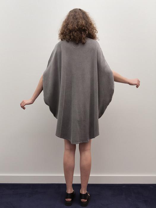 Cosmic Wonder Circular Dress, Natural Black