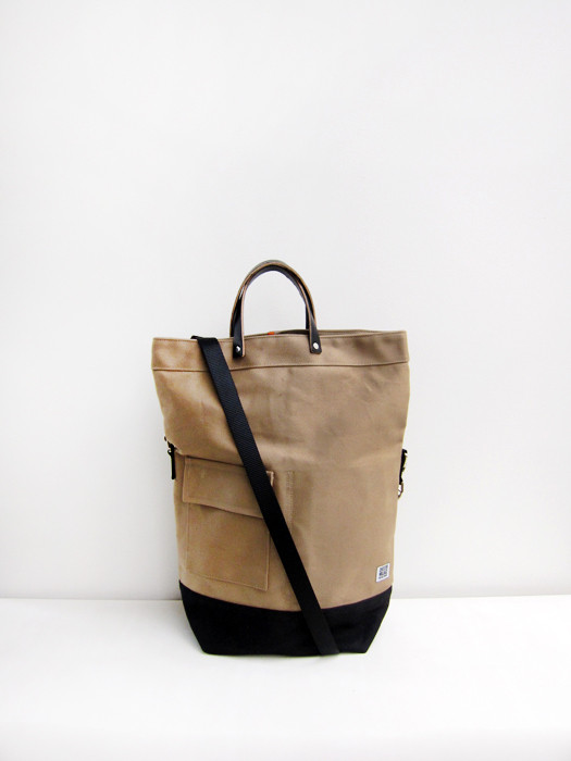 Chester Wallace Classic Bag, Khaki with Black