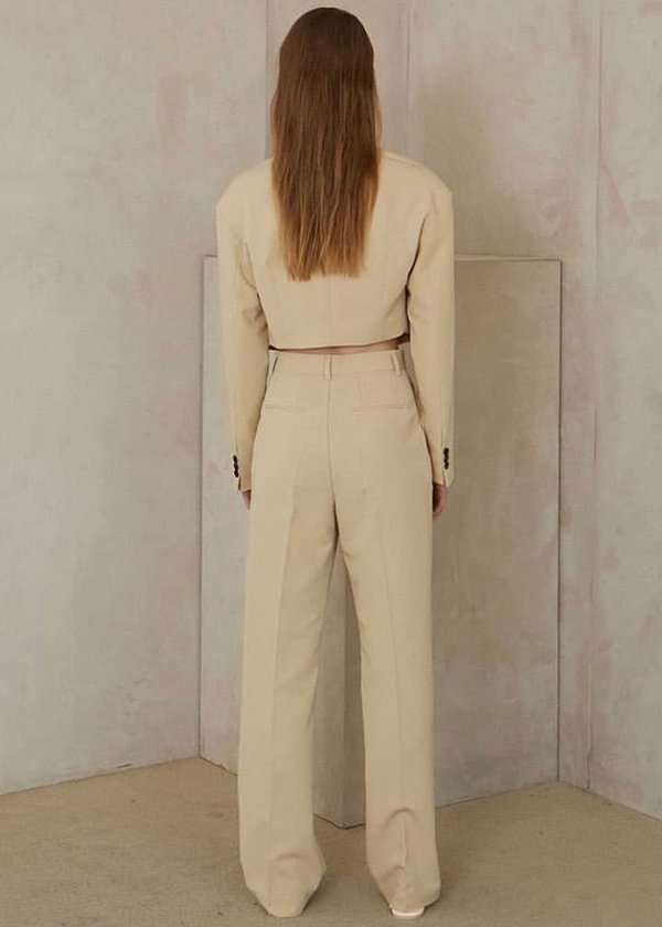 W A N T S Straight Leg Suit Pants - Mellow
