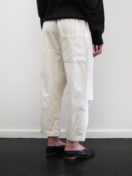Unisex Rowena Sartin Cropped Split Knee Pant