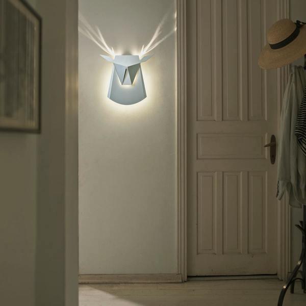 KIDS POPUP LIGHTING Deer Head Light - WHITE