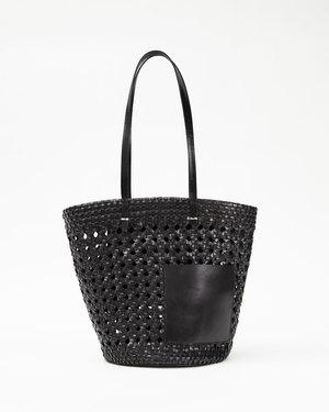 Clare V. Choupette bag - Rattan Black