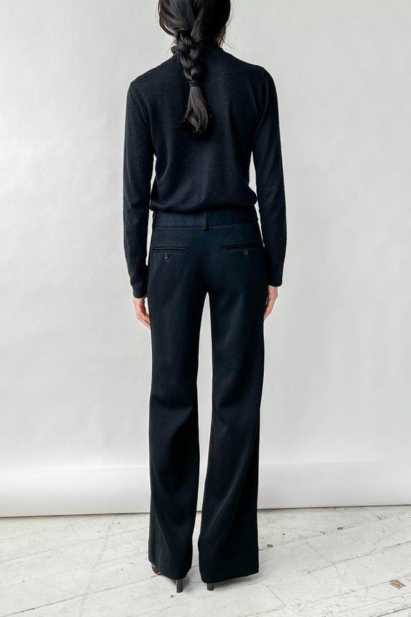 Vintage Low Rise Trouser Pants - Black