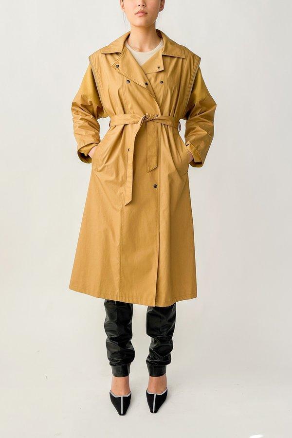 Vintage Cotton Twill Wrap Jacket - Camel