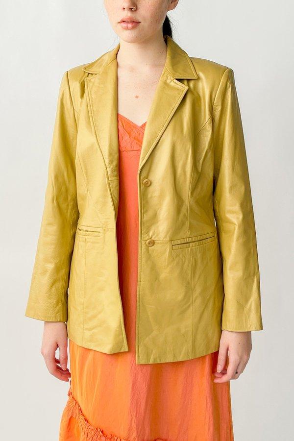 Vintage Leather Jacket - Chamomile