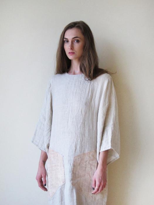 Cosmic Wonder Double Ply Linen Dress