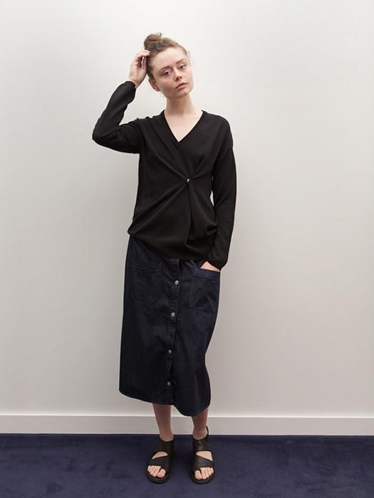 Ann-Sofie Back Drunk Knit Sweater, Viscose