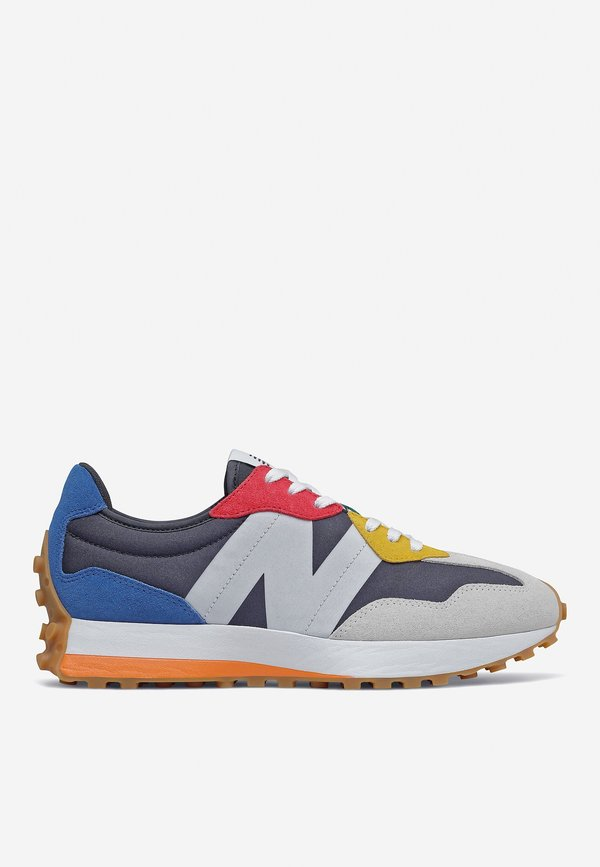 New Balance 327 Primary Brights Sneaker - black/blue/white/yellow