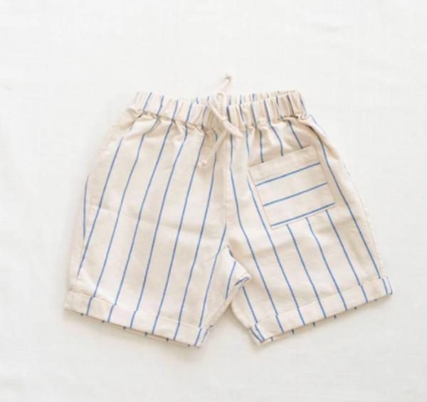 Kids Fin & Vince Pocket Shorts - Blue Stripe