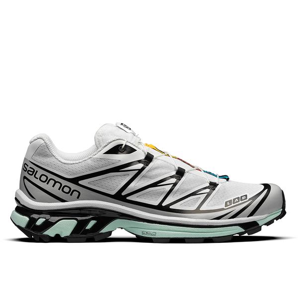 SALOMON XT-6 Sneaker - White/Lunar Rock/Icy Morn