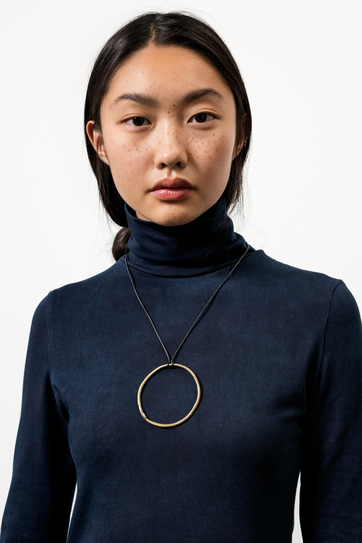 Osei Duro Kendo Turtleneck In Natural Indigo Garmentory