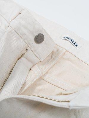 Auralee Hard Twist Denim 5P Pants - White Ivory
