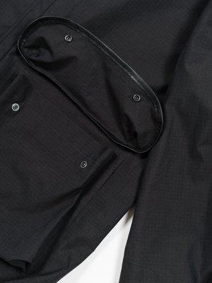 Auralee Washed Finx Ripstop Chambray Big Field Blouson - Black