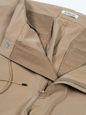 Auralee Washed Finx Ripstop Chambray Field Pants - Beige