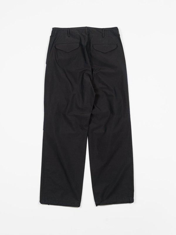 Auralee Washed Finx Ripstop Chambray Field Pants - Black