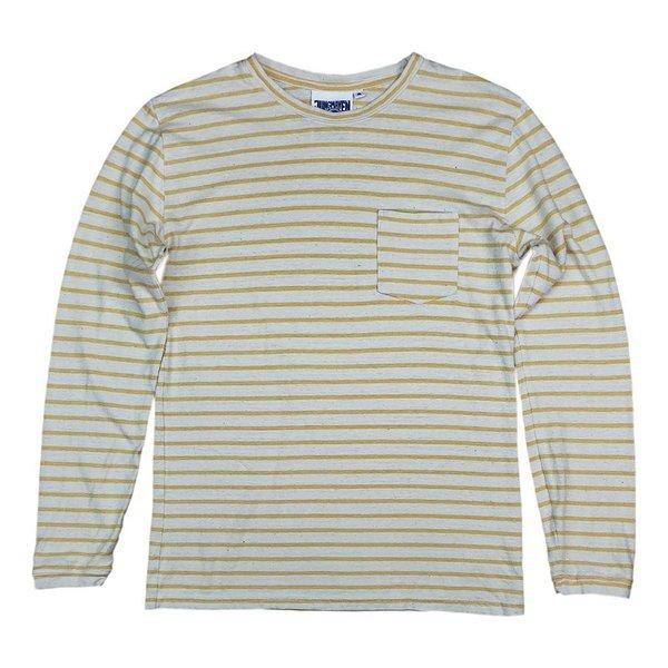 UNISEX Jungmaven Classic Stripe Baja Long Sleeve Pocket Tee - Sunray