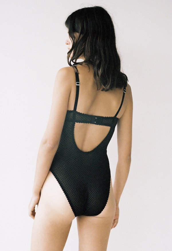 Lonely Label Gigi Bodysuit - Black Dot