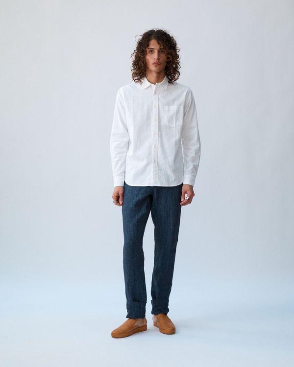 Corridor Linen Cotton Long Sleeve - White