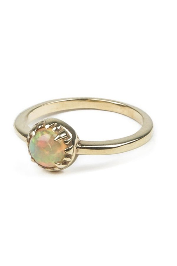 Angela Monaco Matrix Halo Ring - Gold/Opal