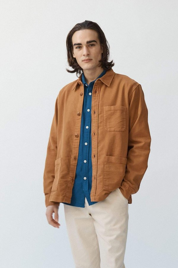 Corridor Moleskin Overshirt jacket - Umber