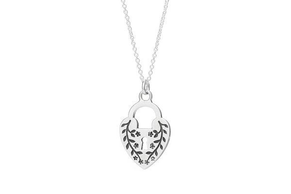 Talon No Other Heart Lock Necklace - Sterling Silver