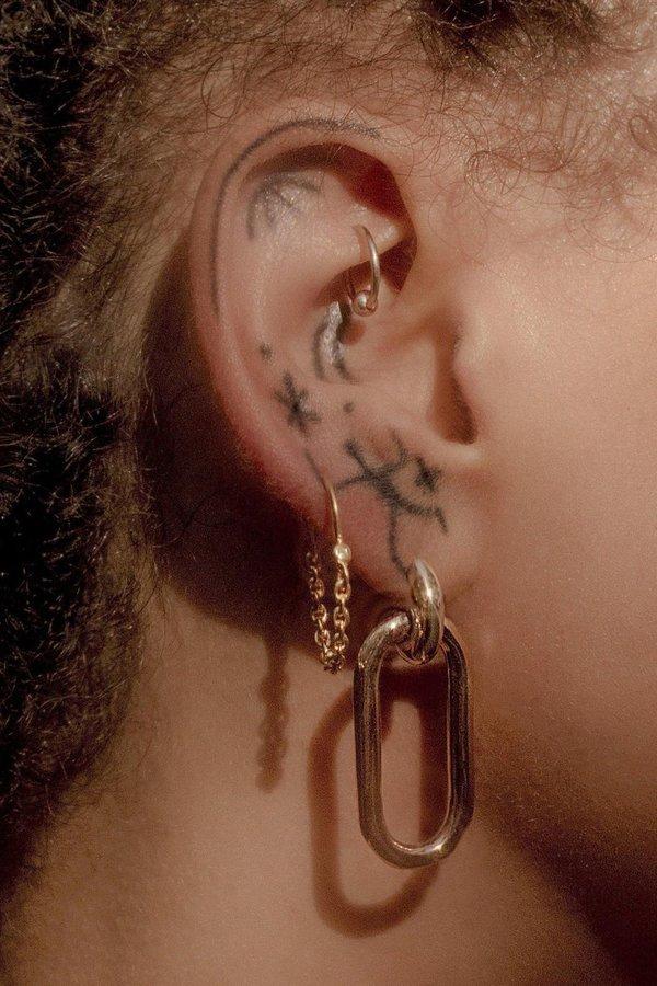 Pamela Love Suspension Hoops - Sterling Silver/White Topaz