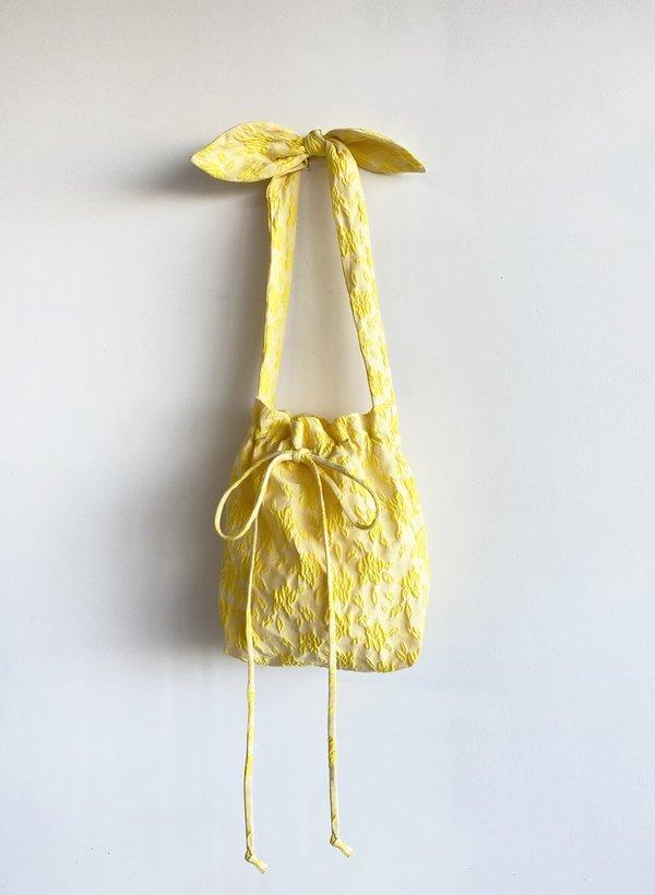 Yellow Jacquard Mini Bunni Bag