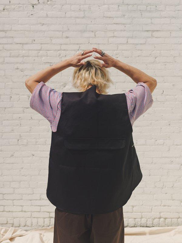 Camiel Fortgens Cotton Zip Vest - Black