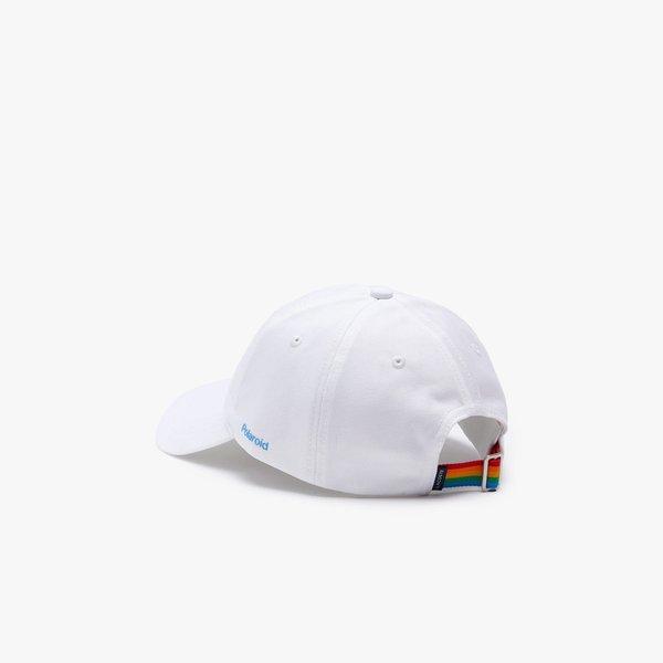 LACOSTE x Polaroid Colour Striped Strap Cap - WHITE
