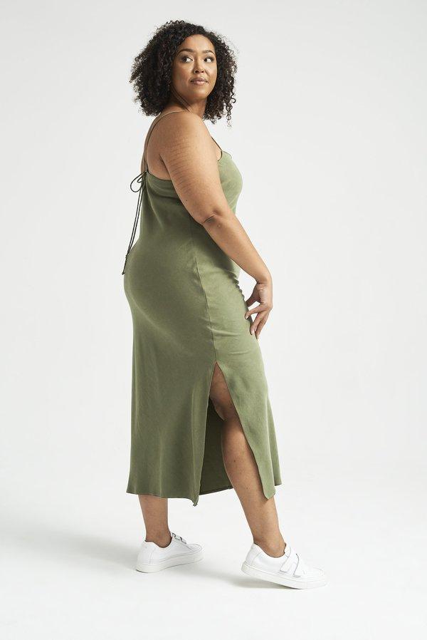 Lois Hazel Pillar Slip - Moss