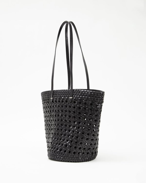 Clare V. Choupette Leather Rattan Bag