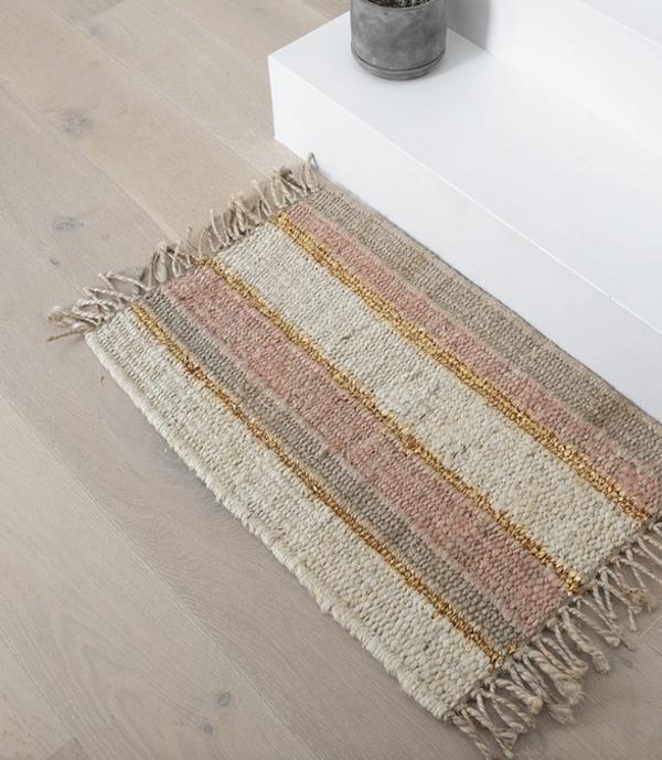 Langdon Ltd Doormat - Peachy Stripe