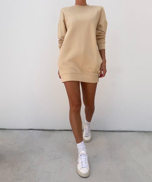 Parentezi Crewneck Sweater Dress - Caramel