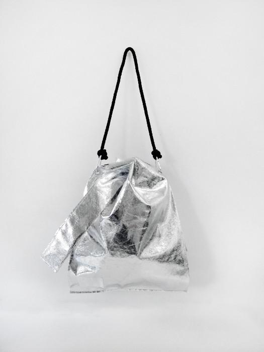 Ann-Sofie Back Knot Shopper, Silver