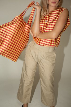 Coming of Age XL Everyday Bag - Red/Yellow Gingham