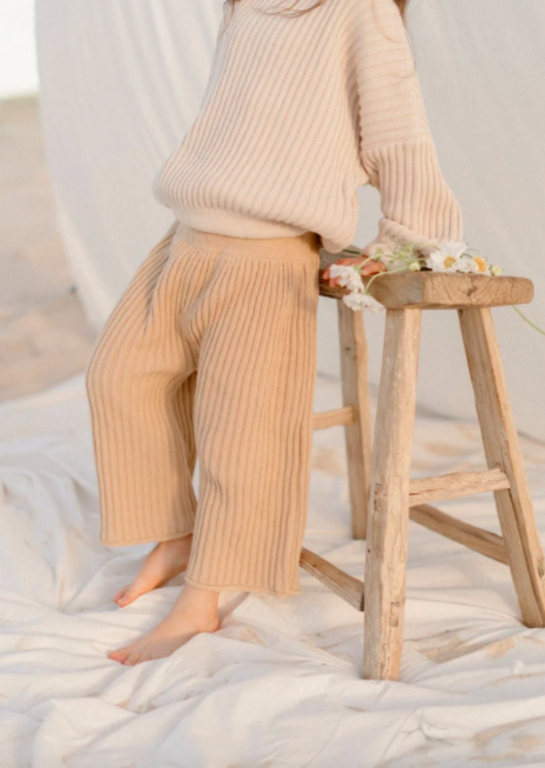 Illoura the Label Knit Pants Caramel